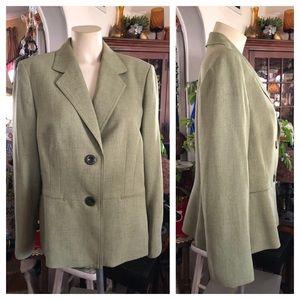 JONES STUDIO Celery Green Blazer Jacket